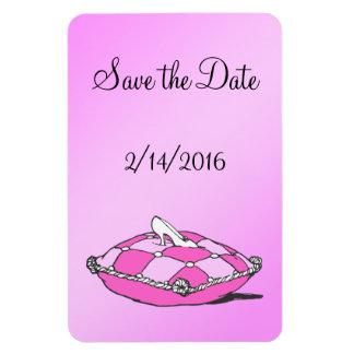 Custom Save the Date Cinderella Slipper Pink Magne Magnet