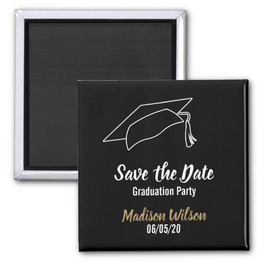 custom save the date graduation party magnet zazzle com