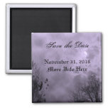 Custom Save the Date Haunted Purple Sky Magnet