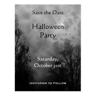 Custom Save the Date Haunted Sky Postcard
