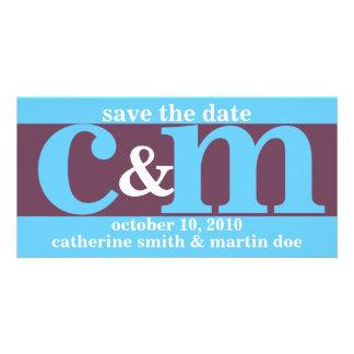 Custom Save the Date - Initials Photo Card Template