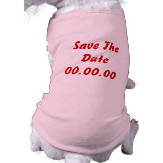 Custom, Save The Date. Red and Pink Pet Tee Shirt