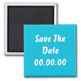 Custom, Save The Date. Teal and White Magnet