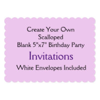 Custom Scalloped Shape Birthday Party Invitations
