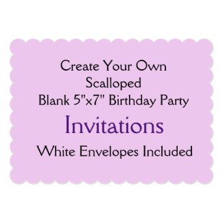 Custom Scalloped Shape Birthday Party Invitations