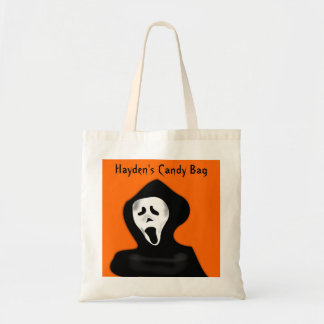 Custom Scary Face Screaming Ghost Halloween Tote Bag