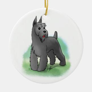Custom Schnauzer Ornament