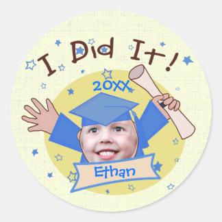 Custom School Boy's Grad Graduation Stickers