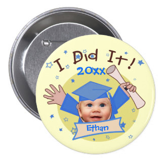 Custom School Boy's Graduation Button
