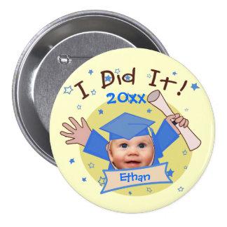 Custom School Boy's Graduation Button