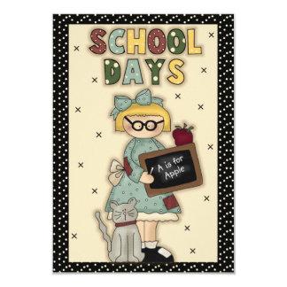 Custom School Days Card
