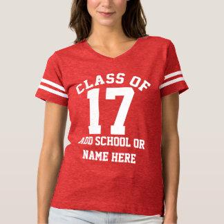 Custom School Name Senior Class of 2017 T-shirt