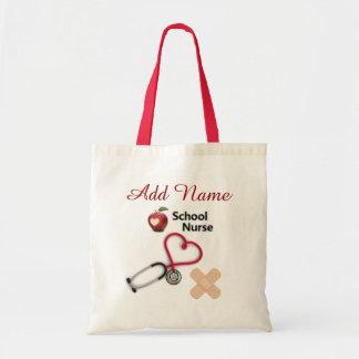 Custom School Nurse Tote Bag
