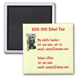 CUSTOM SCHOOL PHONE NUMBER MAGNET