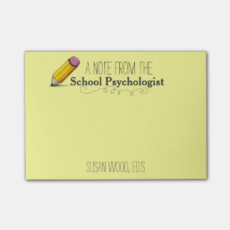 Custom School Psychologist s Post-it® Note Post-it® Notes