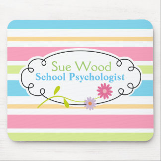 Custom School Psychologist Striped Up Mouse Pad