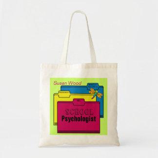 Custom School Psychologist Tote Budget Tote Bag