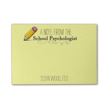 Christmas Themed Custom School Psychologist's Post-it® Note