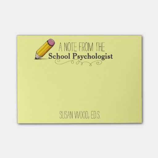 Custom School Psychologist's Post-it® Note Post-it® Notes