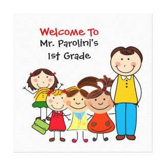 Custom School Welcome Canvas Print