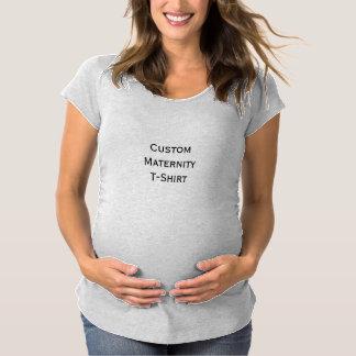 Custom Scoop V-Neck Pregnancy Maternity Tshirt Top