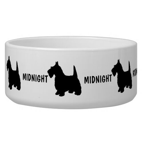 Custom Scottish Terrier Dog Bowl