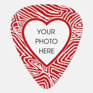 Custom Scribbleprint Photo Heart (Front and Back) Guitar Pick