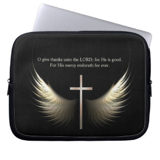 Custom Scripture Christian Cross and Holy Spirit Computer Sleeves