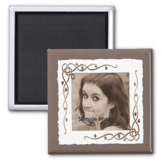 Custom Scrolls Instagram Photo Create Your Own 2 Inch Square Magnet