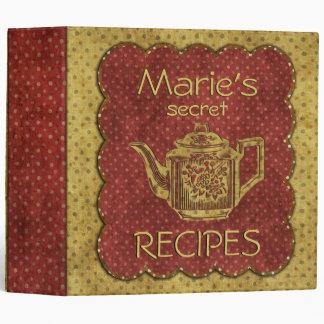Custom Secret Recipes Yellow Red Binder