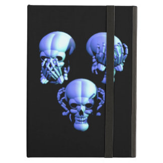Custom See Hear Speak No Evil Skulls iPad Case