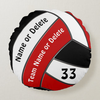 Custom Senior Night Gifts for Volleyball Players Round Pillow