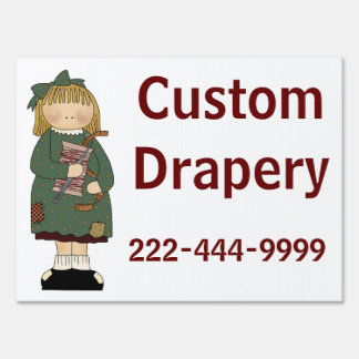 Custom Sewing Yard Sign