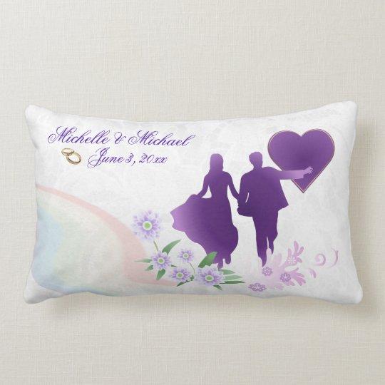 Custom Shades of Lavender Wedding Keepsake Pillow