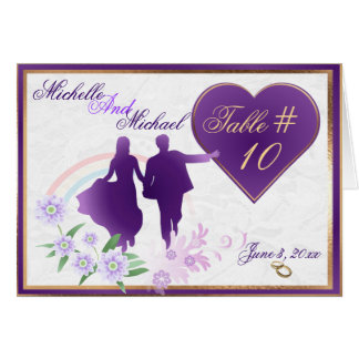 Custom Shades of Lavender Wedding Table Number Crd Stationery Note Card