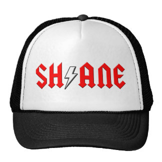 custom SHANE rock and roll shirt Mesh Hats