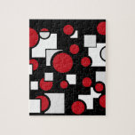 Custom Shapes in Red & White Jigsaw Puzzle