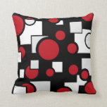 Custom Shapes in Red & White Throw Pillow