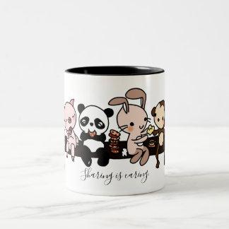 "Custom ""Sharing is Caring"" Cute Animals Mug"