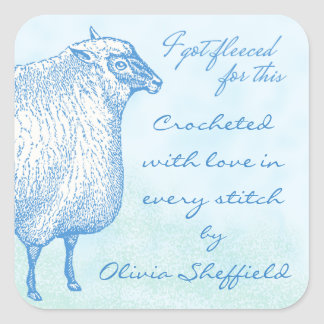 Custom Sheep Sticker for Your Hand-Crafted Gifts