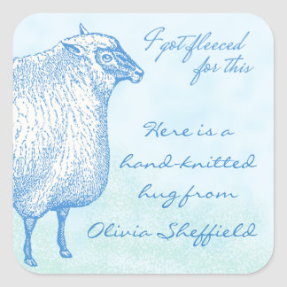 Custom Sheep Sticker for Your Hand-Knitted Gifts
