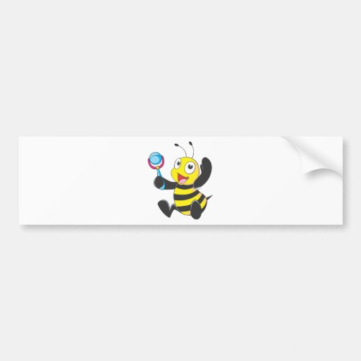 Custom Shirts : Baby with Rattle Bee Shirts Bumper Stickers