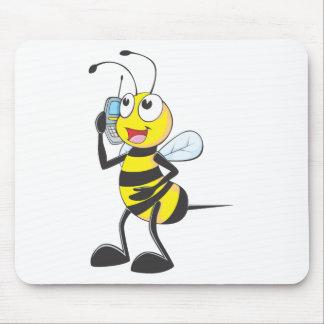 Custom Shirts : Bee Talking Calling Shirts Mouse Pad