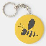 Custom Shirts :  Elegant Bee Icon Shirts Basic Round Button Keychain