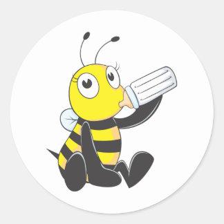 Custom Shirts : Happy Baby Bee Shirts Round Sticker