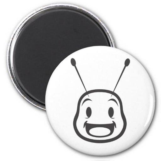 Custom Shirts : Happy Bee Shirts 2 Inch Round Magnet
