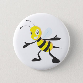 Custom Shirts : Happy Bee Shirts Pinback Button