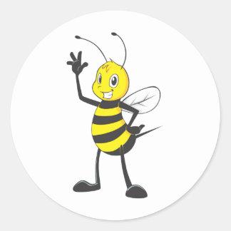 Custom Shirts : Happy Bee Shirts Round Stickers