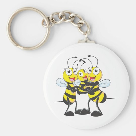 Custom Shirts : Happy Dad Mom Baby Bee Shirts Keychain
