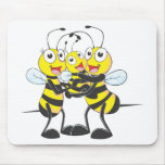 Custom Shirts : Happy Dad Mom Baby Bee Shirts Mouse Pad